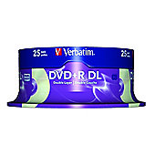 Verbatim DVD+R Double Layer with AZO layer - 25 Pack