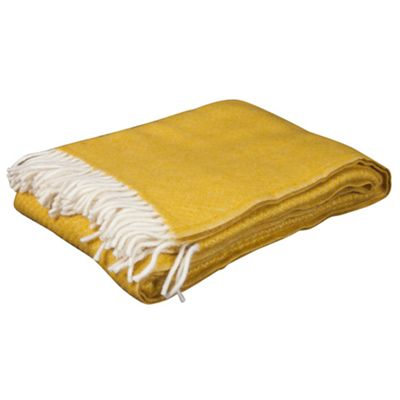 Lambswool Throw Saffron