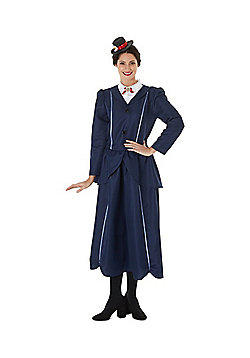 Disney Mary Poppins Adult Fancy Dress Costume - Navy