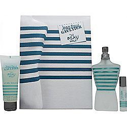 Jean Paul Gaultier Le Beau Male Gift Set 125ml EDT Spray + 75ml Shower Gel + 9ml EDT For Men