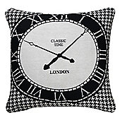 Black and White Cushion Modern London Clock Design