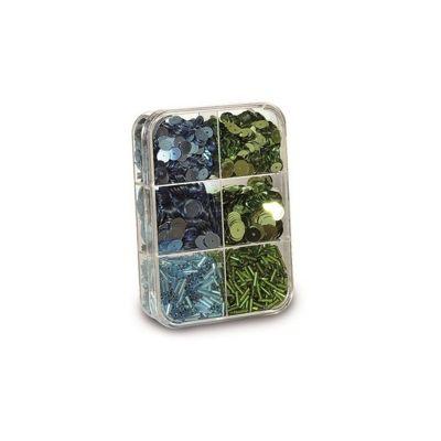 Gutermann Blue and Green Bead & Sequin Set
