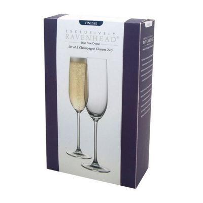 Set of 2 Champagne Glasses / Flutes - 22cl