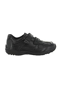 Buckle My Shoe Boys Black Real Leather Back to School Shoes Various UK Sizes - Black