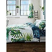 Botanical Palm Leaves Duvet Cover and Pillowcase Set - Green