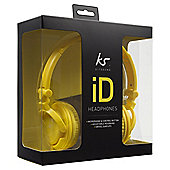 KitSound iD On-Ear Headphones with Mic/Remote - Yellow