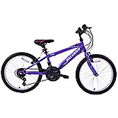 "Salcano Excel 20"" Wheel Kids MTB Bike 18 Speed Purple"