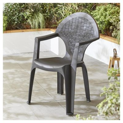 dream resin dark grey garden chair - Rattan Garden Furniture Tesco