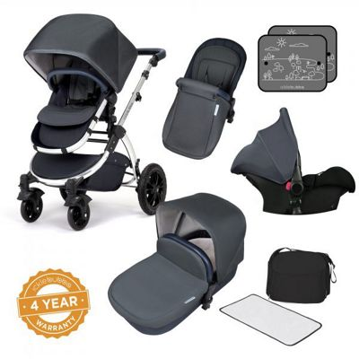 Ickle Bubba Stomp V4 Special Edition Travel System plus 2nd Stage Isofix 1,2,3 Car Seat - Woodland Bronze