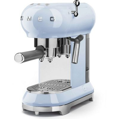 Smeg 1950's Retro Style Espresso Coffee Machine & Steamer in Pastel Blue