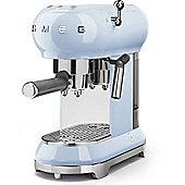 Smeg 1950's Retro Style Espresso Coffee Machine & Steamer in Pastel Blue
