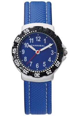 Cannibal Junior Boys Blue Material Strap Watch CJ091-04