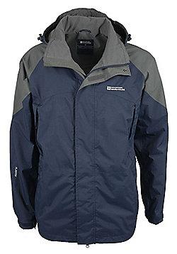 Tumult Mens Softshell Waterproof Breathable Hooded Lightweight Jacket Rain Coat - Blue
