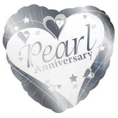 Pearl Anniversary Balloon - 18 inch Foil