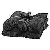 Hygro Cotton 2 Pack Hand Towels - Black