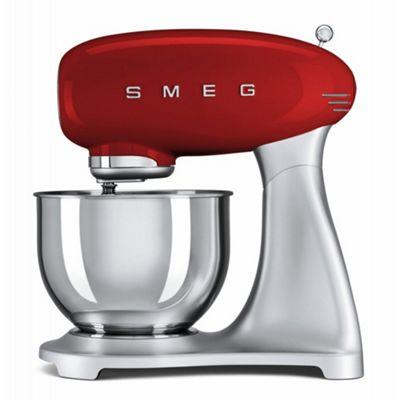 Smeg SMF01RDUK | 50's Retro Kitchen Style Cake & Dough Stand Mixer in Red