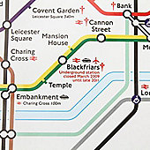 Gift Wrap - London Underground Map - White