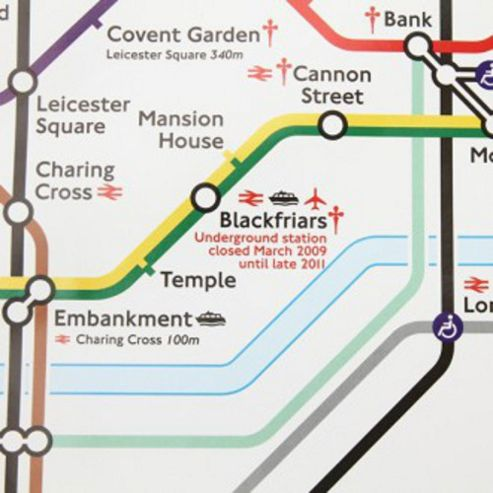 Gift Wrap - London Underground Map - White