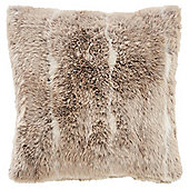 Tesco Light Natural Faux Fur Cushion