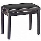 Stagg Rosewood Piano Bench with Black Velvet Top
