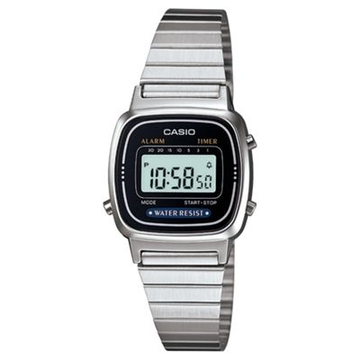 Casio Computer LA670WEA-1EF Ladies Digital Watch Silver