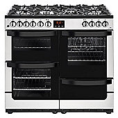 New World VISION 100DFTSS - 1000mm Dual Fuel Range Cooker 7 x Burners inc WOK, Stainless Steel
