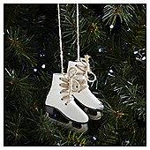 Weiste White Skates Christmas Tree Decoration