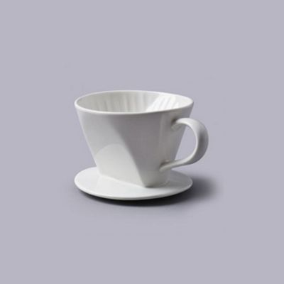 White Porcelain Coffee Filter Cup