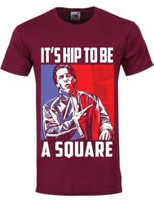 It's Hip To Be A Square Burgundy Men's T-shirt