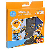 JCB Bandana Dribble Bibs Boxed (4 Pack Gift Set) Joey JCB and Friends Blues & Grey Set …