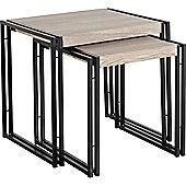 Nest of tables home furniture tesco direct tesco tnw burton nest of 2 tables in oak effect veneerblack watchthetrailerfo