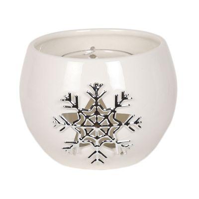 Aroma Snowflake Round Tealight Holder