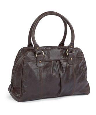 Mamas & Papas - Audrey Leather Changing Bag - Chocolate Brown