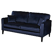 Fox & Ivy Dexter Velvet Large 3 Seater Sofa, Navy