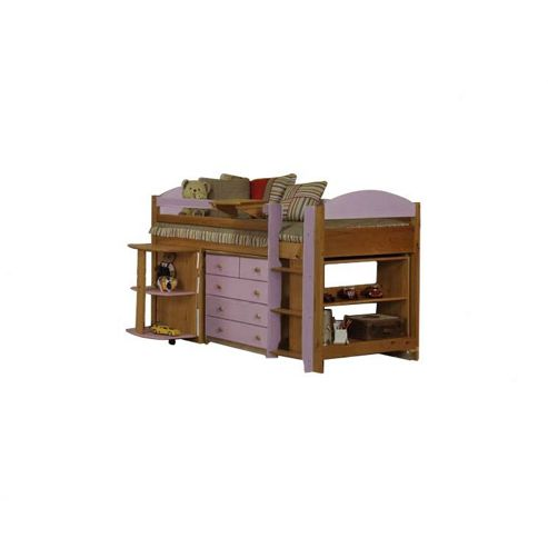 Verona Maximus Midsleeper with Underbed Furniture - Pink