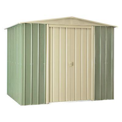 8 x 6 Premier EasyFix Mist Green Apex Shed (2.33m x 1.75m) 8ft x 6ft