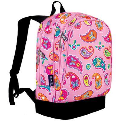 Kids' Backpacks- Pink Paisley