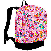 Kids' Backpacks- Pink Paisley