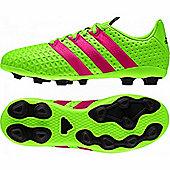 adidas ACE 16.4 FXG Junior Football Boots Green / Pink / Black - Green
