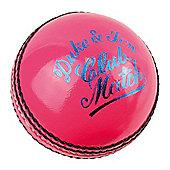 "Dukes Cricket Club Match ""A"" Mens 156g (5.5oz) Cricket Ball Pink"