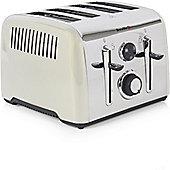 Breville VTT716 Aurora 4 Slice Stainless Steel Toaster - Cream