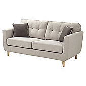 Chester Button Back Large 3 Seater Sofa, Light Grey