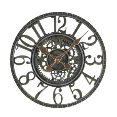 Outside In Newby Verdigris Mechanical Wall Clock 12in