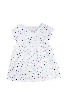 F&F Smudge Spot Smock Dress - White & Multi