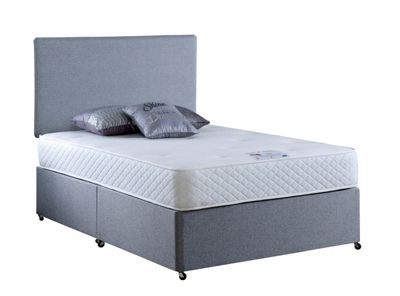 Land of Beds Elizabeth Gel Small Single Non-Storage Divan in Grey