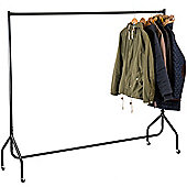 Andrew James Heavy Duty Clothes Rail with Dust cover, Holds Over 50kg of Weight - 6ft