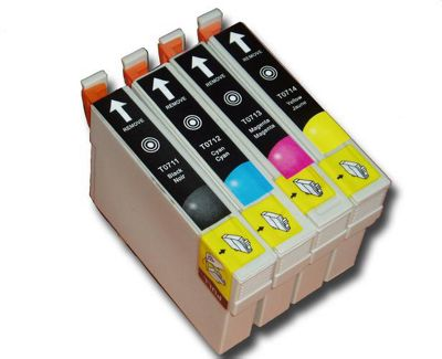 4 Chipped Compatible Epson Cheetah T0711-4 (T0715) Inks
