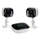Panasonic-KXHN6002EW DIY Indoor/Outdoor Home surveillance Camera Kit