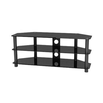 Universal Black TV Stand with Black legs for up to 50 inch