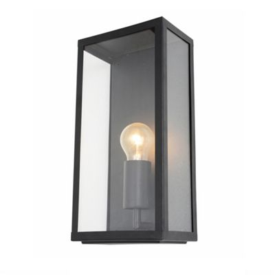Litecraft Alfresco 1 Bulb Outdoor Wall Lantern, Black
